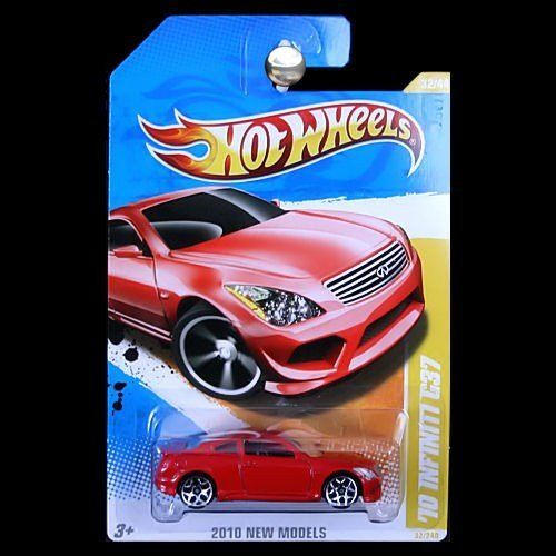 2010 Hot Wheels New Models '10 INFINITY G37 RED 32 of 44 by Mattel. $0.01. 1:64 scale. die cast metal and plastic parts. ages 3+. Excellent Condition. Never Removed From Package. Shipped 1st Class Mail With Delivery Confirmation In A Box.