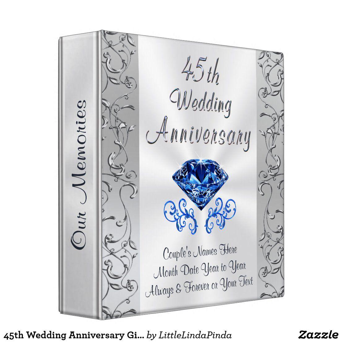 45th wedding anniversary gift ideas photo album 3 ring