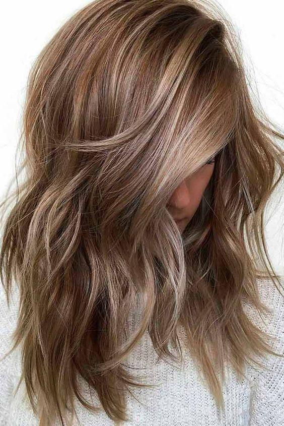 23 Cute Medium Layered Haircuts For Women Cute Haircuts Ideas Low Maintenance Hair Dark Blonde Hair Color Hair Styles