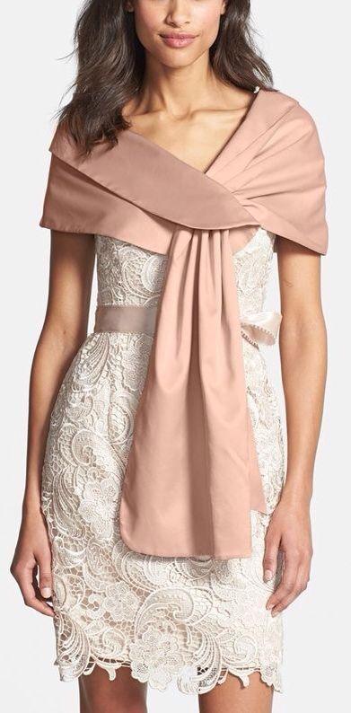 Chal para acompañar vestido de novia o de fiesta | Vestidos boda ...