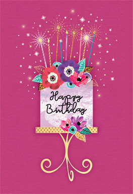 HAPPY BIRTHDAY CARD*ON YOUR SPECIAL BIRTHDAY*FEMALE*GLITTER DESIGN*GREETING