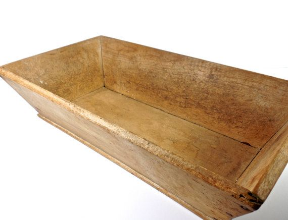 19thc New England Wooden Bread Trough Antique Dough Bowl Box Antiques American Primitive Folk Art