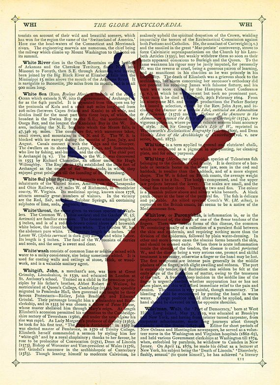 Jubilee Queen With Union Jack Flag Dictionary Art Print Vintage Upcycled Book Page Poster 15 00 Via Et Dictionary Art Print Union Jack Flag Union Jack Decor