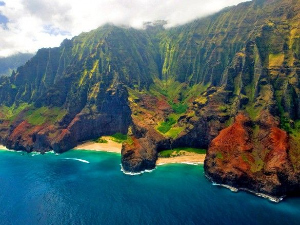 Honopu Beach Kauai Hawaii The Most Amazing Beaches In World Via Mydomaine