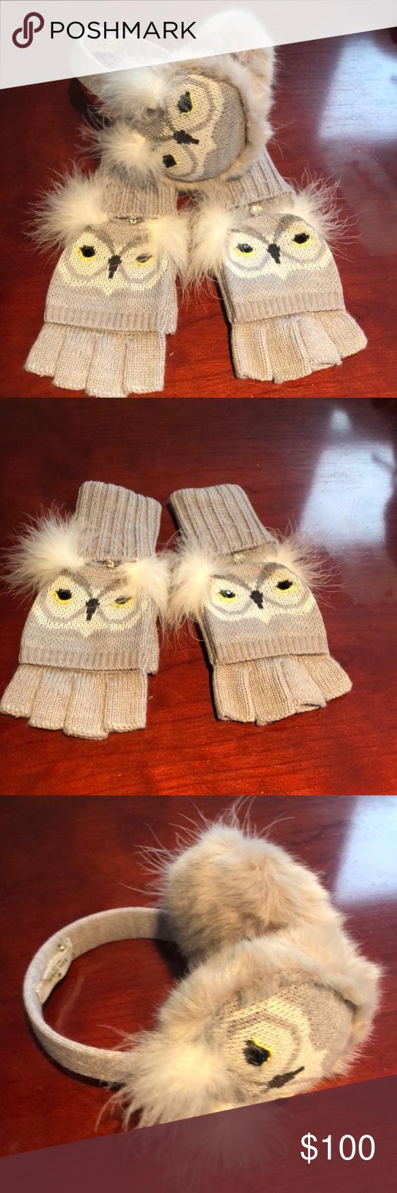 Kate Spade Who Me Owl Earmuffs Pop Top Mittens Earmuffs Kate Spade Kate Spade Accessories