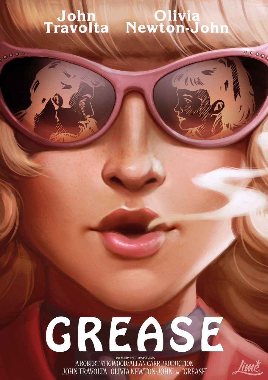 Grease Movie Poster Redesign By Amandaduartedeviantartcom On