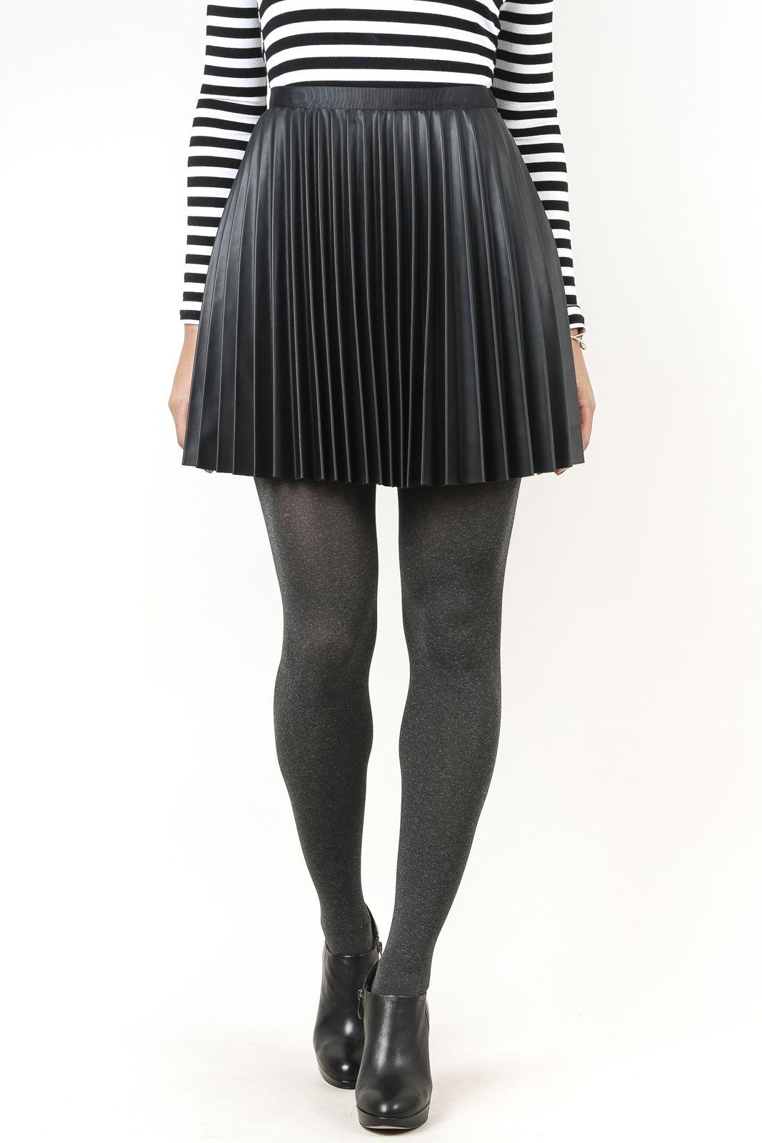 Pleated Vegan Skirt