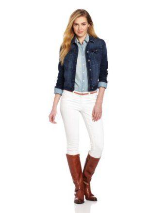 Calvin Klein Jeans Women's Trucker Jacket, Dark Wash, Small Calvin Klein Jeans. $79.50