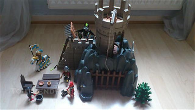 playmobil tour rocher chateau fort chevalier la chapelle palluau 85670 - Playmobile Chevalier