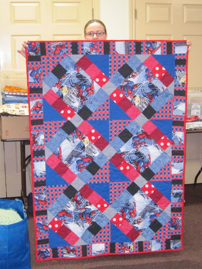 Spiderman quilt made and donated by Marissa | Spiderman, Panel ... : spiderman quilt - Adamdwight.com