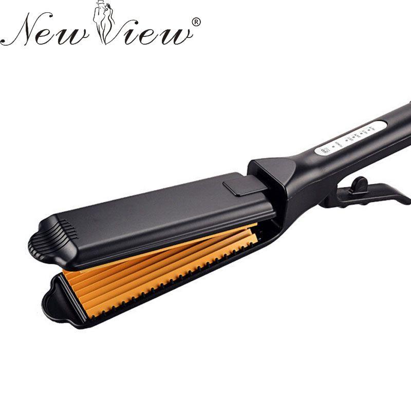 Newview مستقيم الحديد المسطح Chapinha المهنية السيراميك الشعر استقامة المموج الشباك بكرة أدوات التصمي Hair Straighteners Flat Irons Hair Straightener Flat Iron