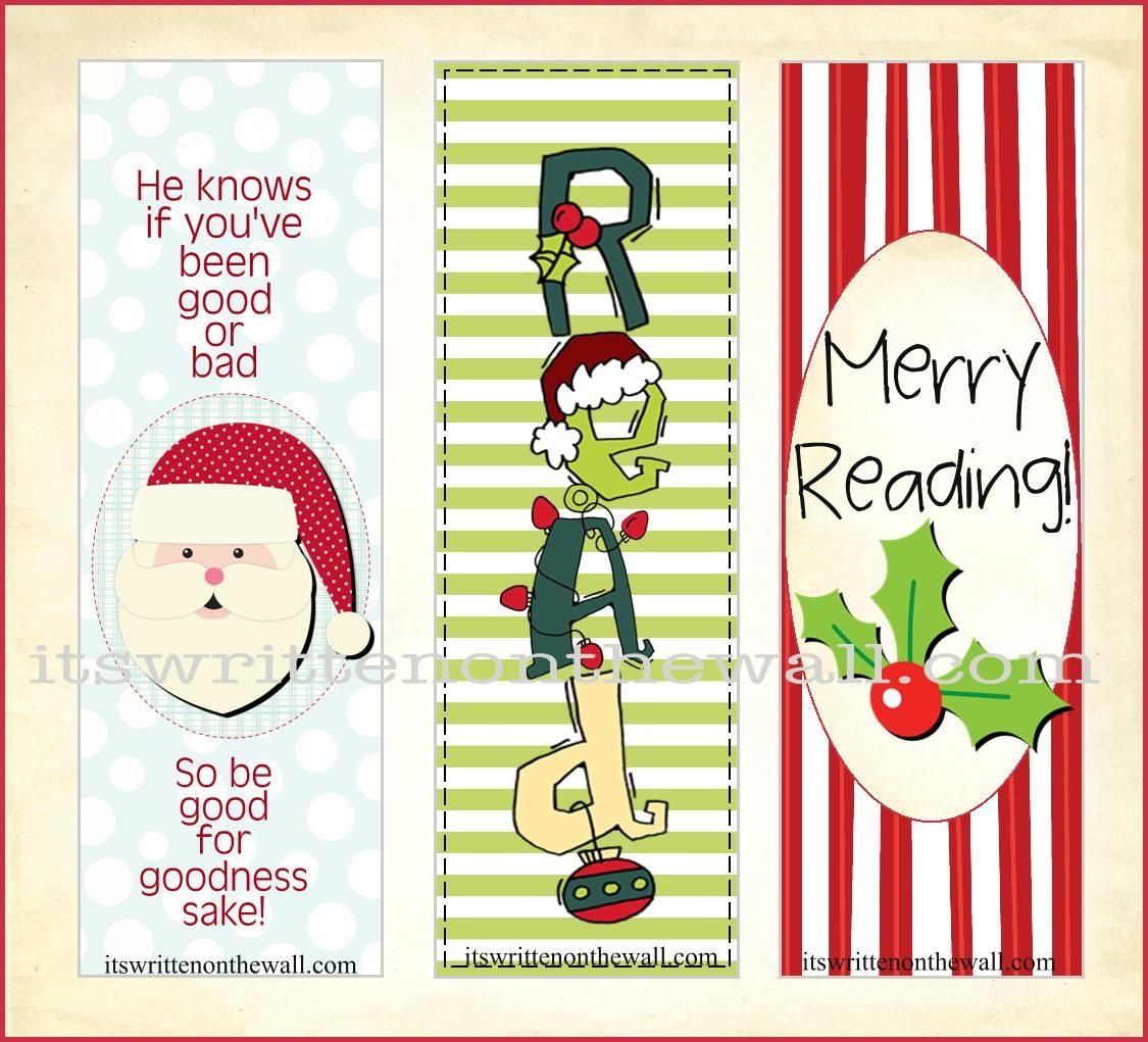 5 Images Of Free Printable Christmas Bookmarks To Color