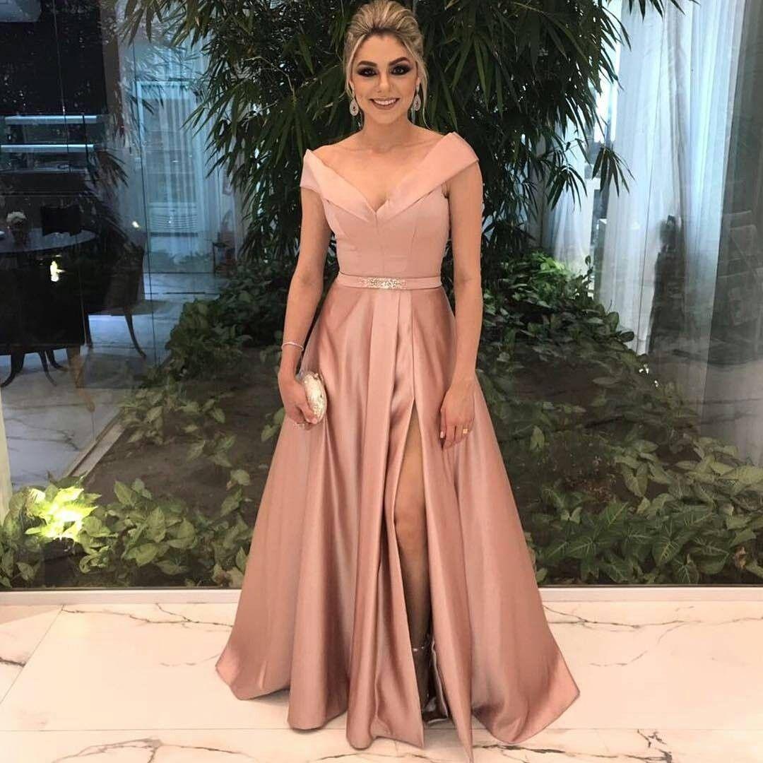Muitas vezes Madrinha em rosa chá nesse modelo de vestido incrível Fonte  WU36
