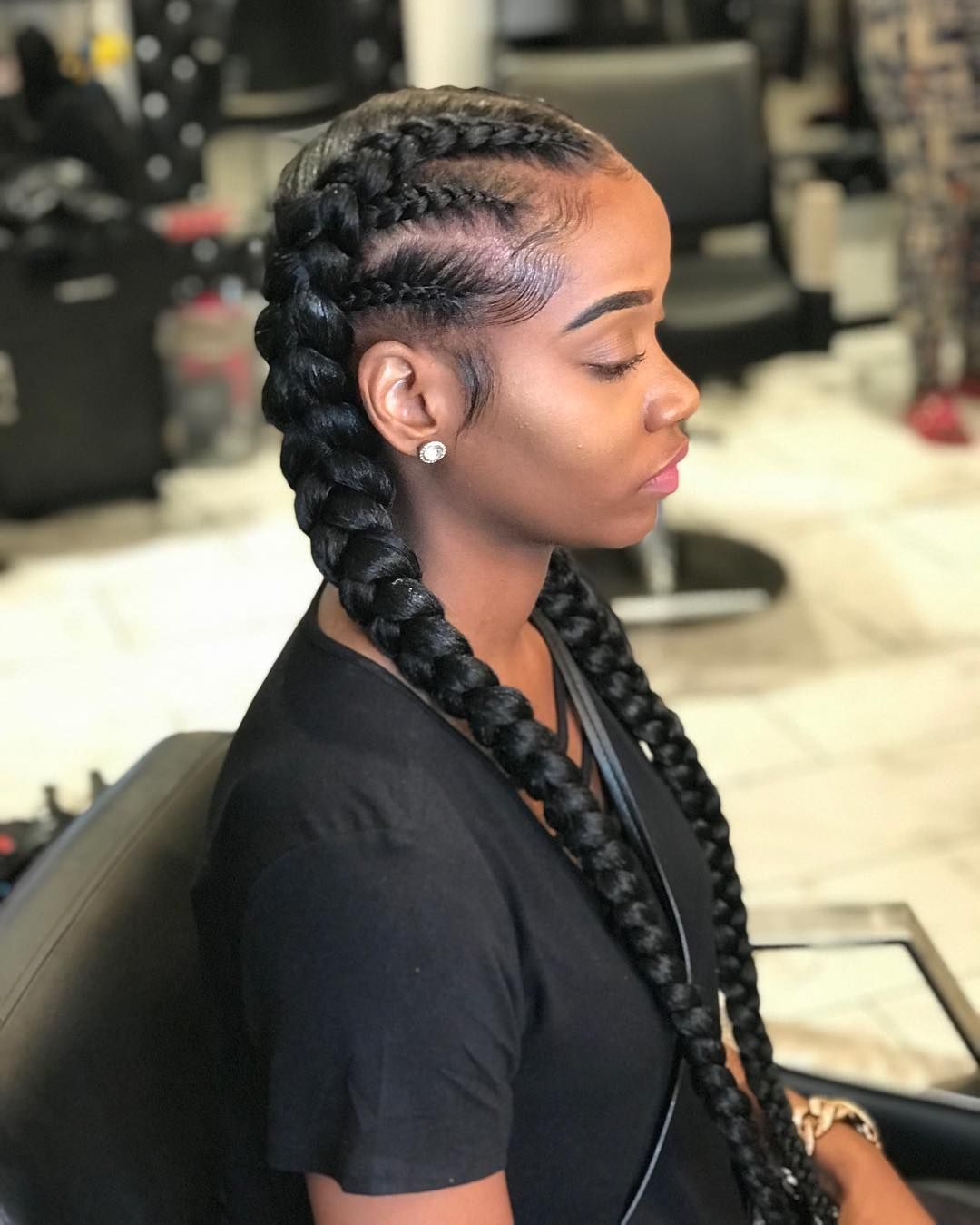 2 Braids With A Twist Tossed Tossedtresses Tossedbyteyanna Phillyhairstylist Hairtherapy Twobraids Two Braid Hairstyles Braids For Black Hair Hair Styles