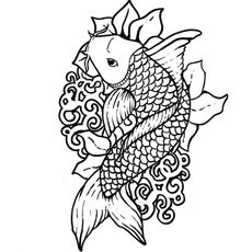 Top 25 Free Printable Koi Fish Coloring Pages Online Adult