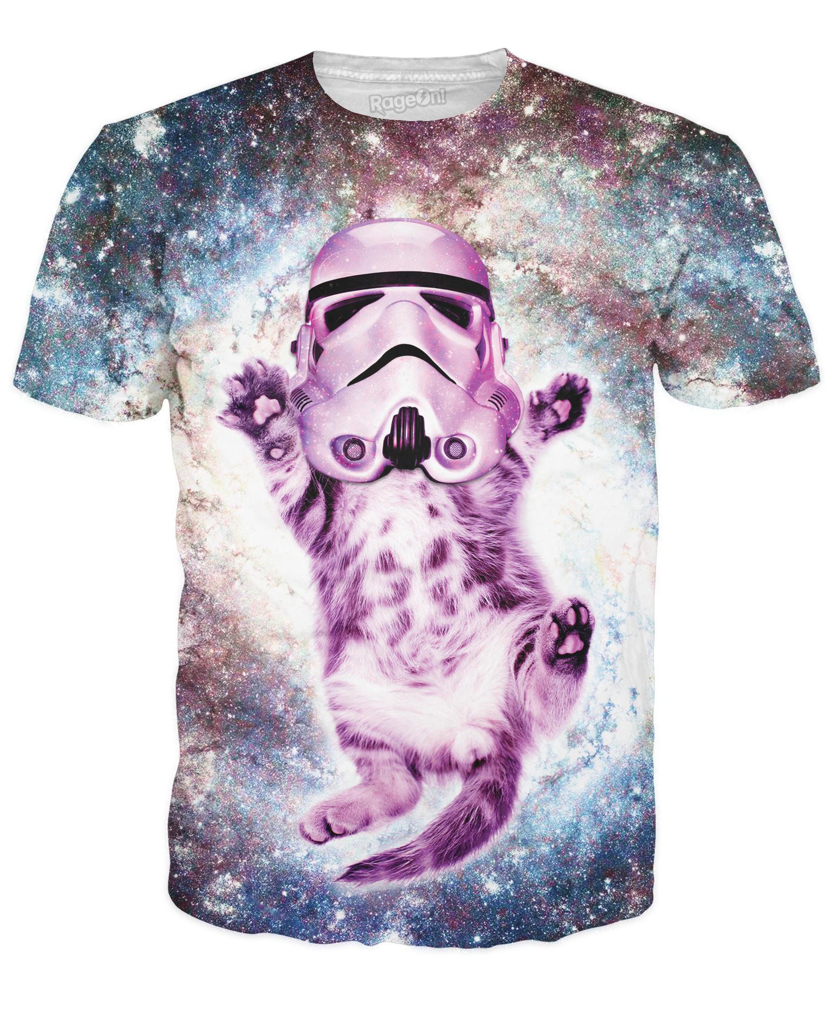 Helmet Cat T Shirt Casual T Shirts Galaxy T Shirt 3d T Shirts