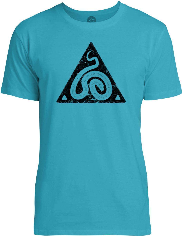 Snake Symbol (Black) Mens Fine Jersey T-Shirt