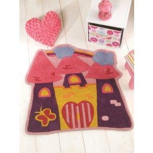 For High Quality Rugs At Great Prices The Kiddy Play Fairytale Castle Childrens Rug Multi A Price And Get Free Fast Delivery