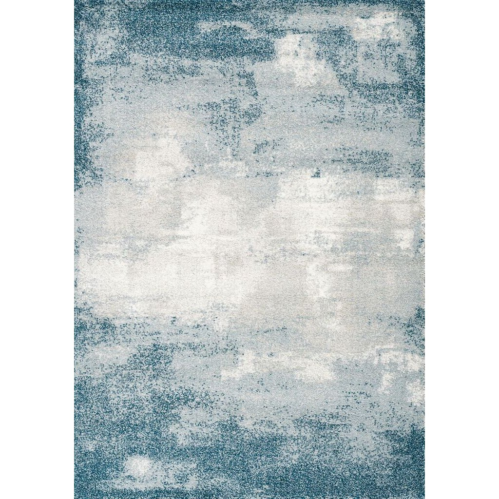 5 X 8 Medium Teal Gray And Cream Area Rug Sable In 2020 Blue