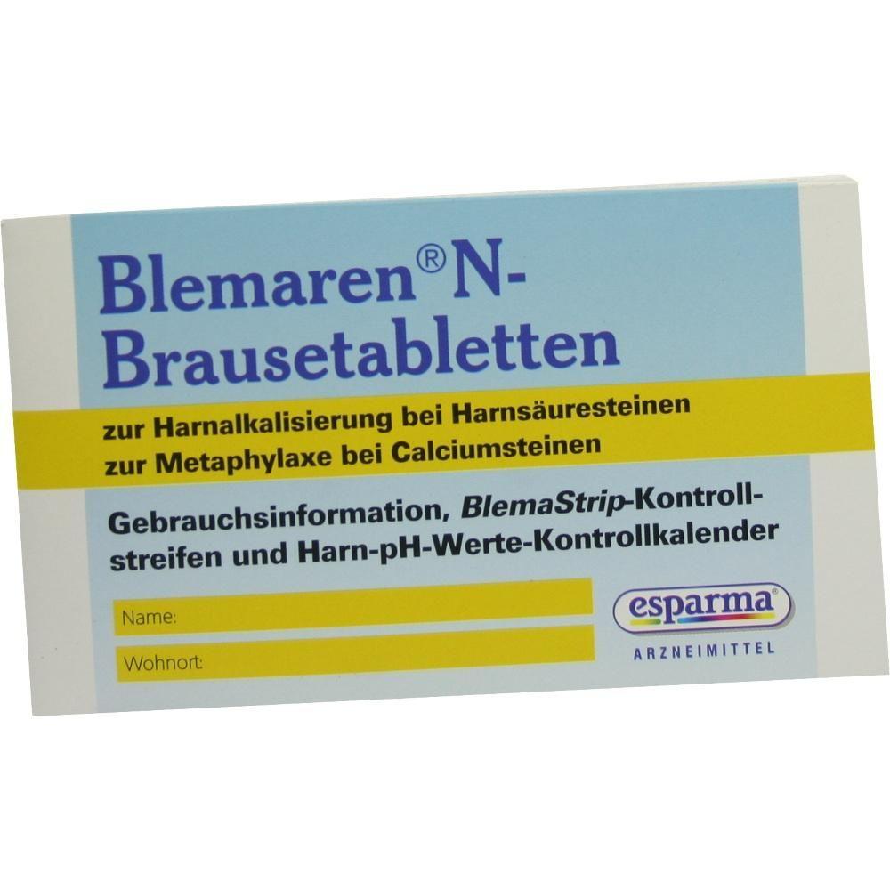 BLEMAREN N Kontrollkalender Teststreifen:   Packungsinhalt: 27 St Teststreifen PZN: 06629644 Hersteller: Aristo Pharma GmbH Preis: 2,11…