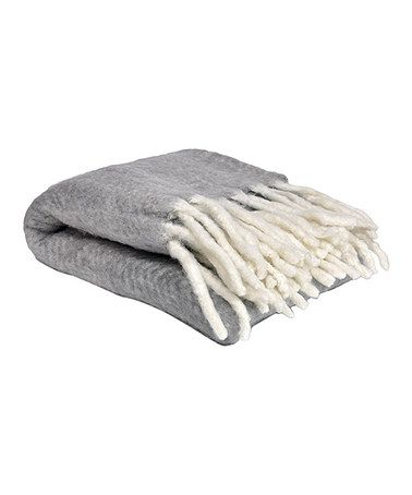 Look at this #zulilyfind! Gray Ultrasoft Mohair-Blend Throw Blanket #zulilyfinds