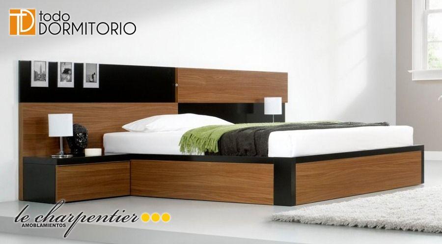 Cama respaldar juego dormitorio moderno le carpentier d171 for Juego de dormitorio queen