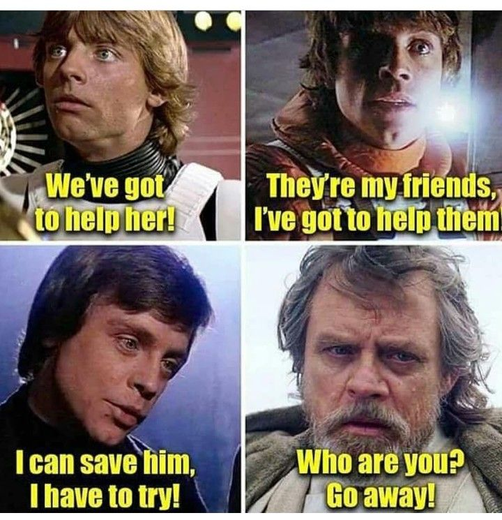 Did Not Like How They Did Luke Skywalker Character In This One Star Wars Humor Star Wars Memes Star Wars Facts