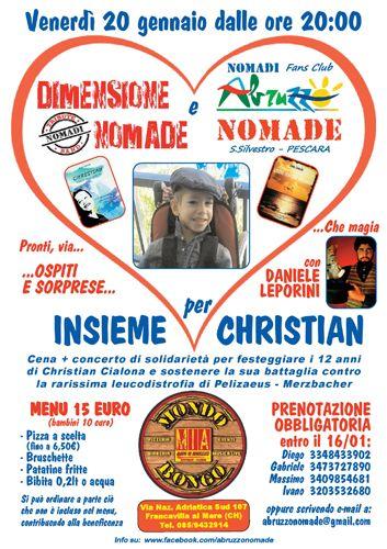 Francavilla Dimensione Nomade e Abruzzo Nomade: Insieme per Christian