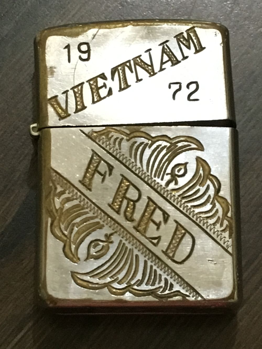 Uncle Fred S Engraved Zippo Lighter From Vietnam 1972 Usmc Rip Vietnam War Photos Engraved Zippo Vietnam War