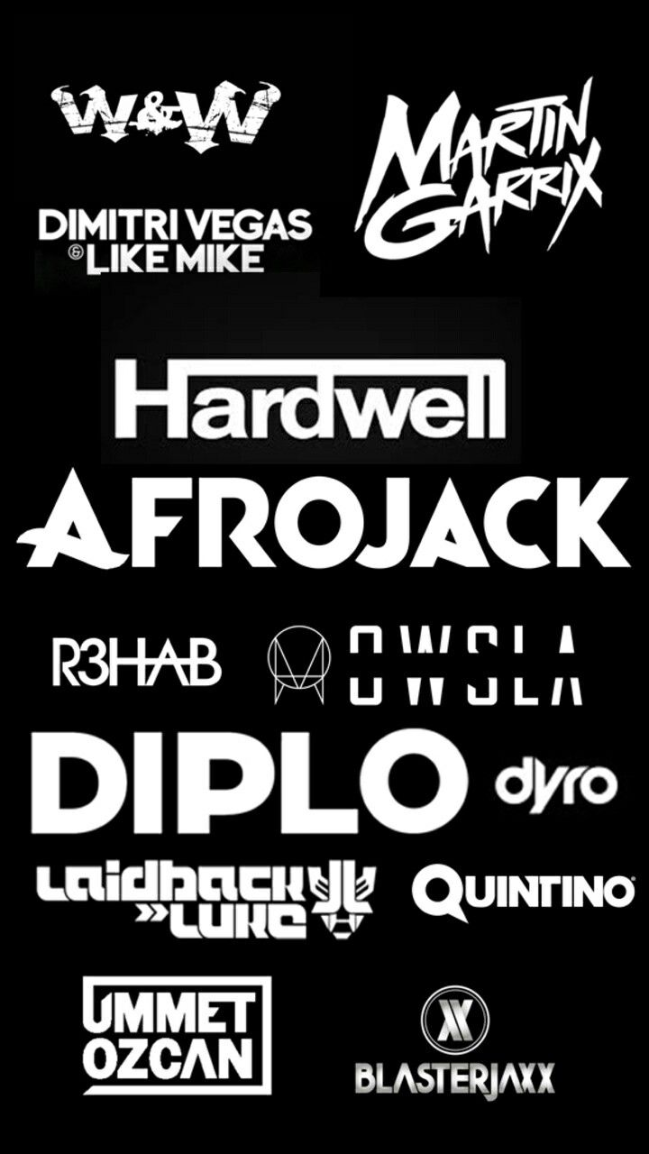 Electronica Medium Font Dj S Logo Hardwell Dimitri Vegas Like Mike Electronic Music