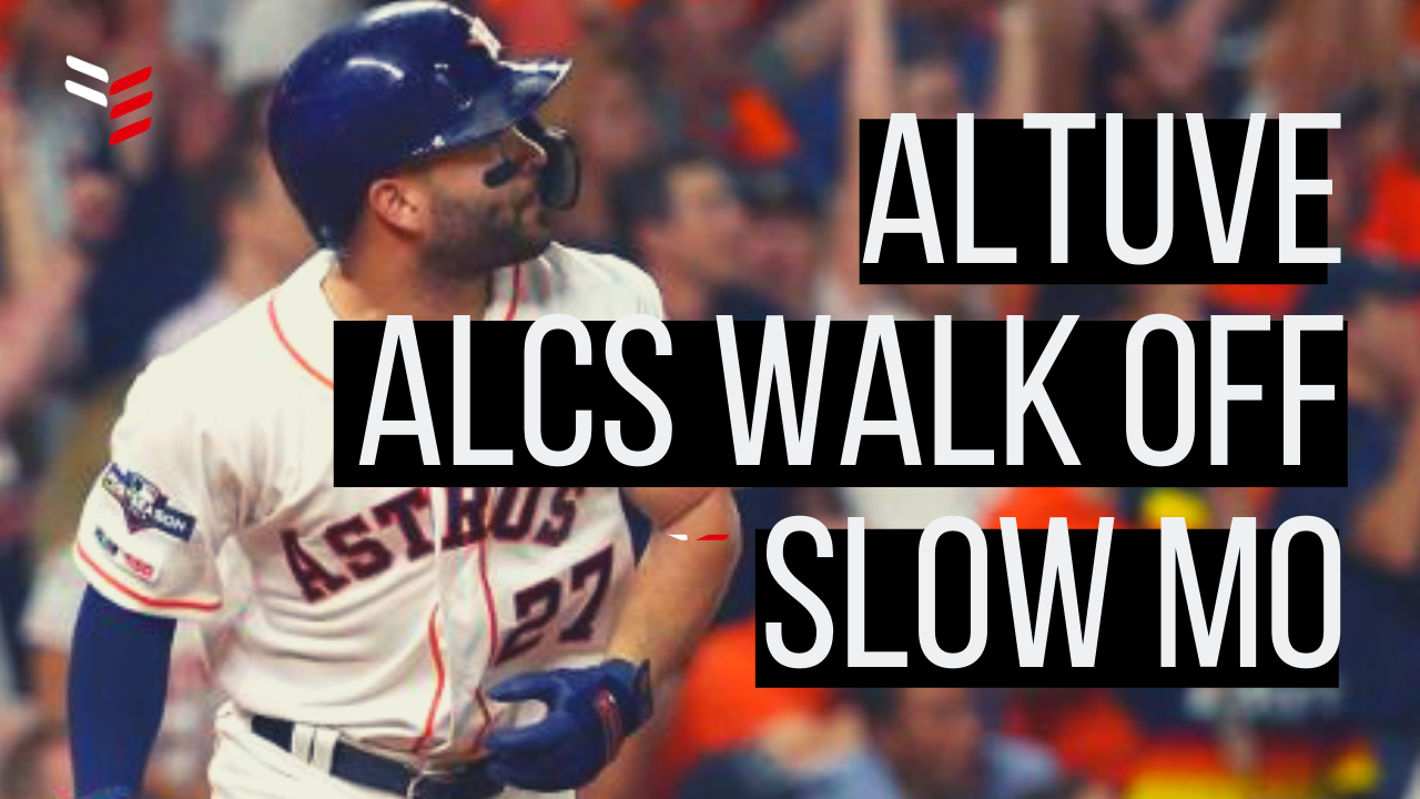 Jose Altuve Alcs Walk Off Home Run Swing Slow Mo Baseball Highlights Houston Astros Baseball Highlights Jose Altuve Baseball