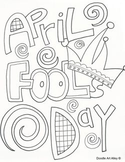 april fools day coloring page - Language Arts Coloring Pages