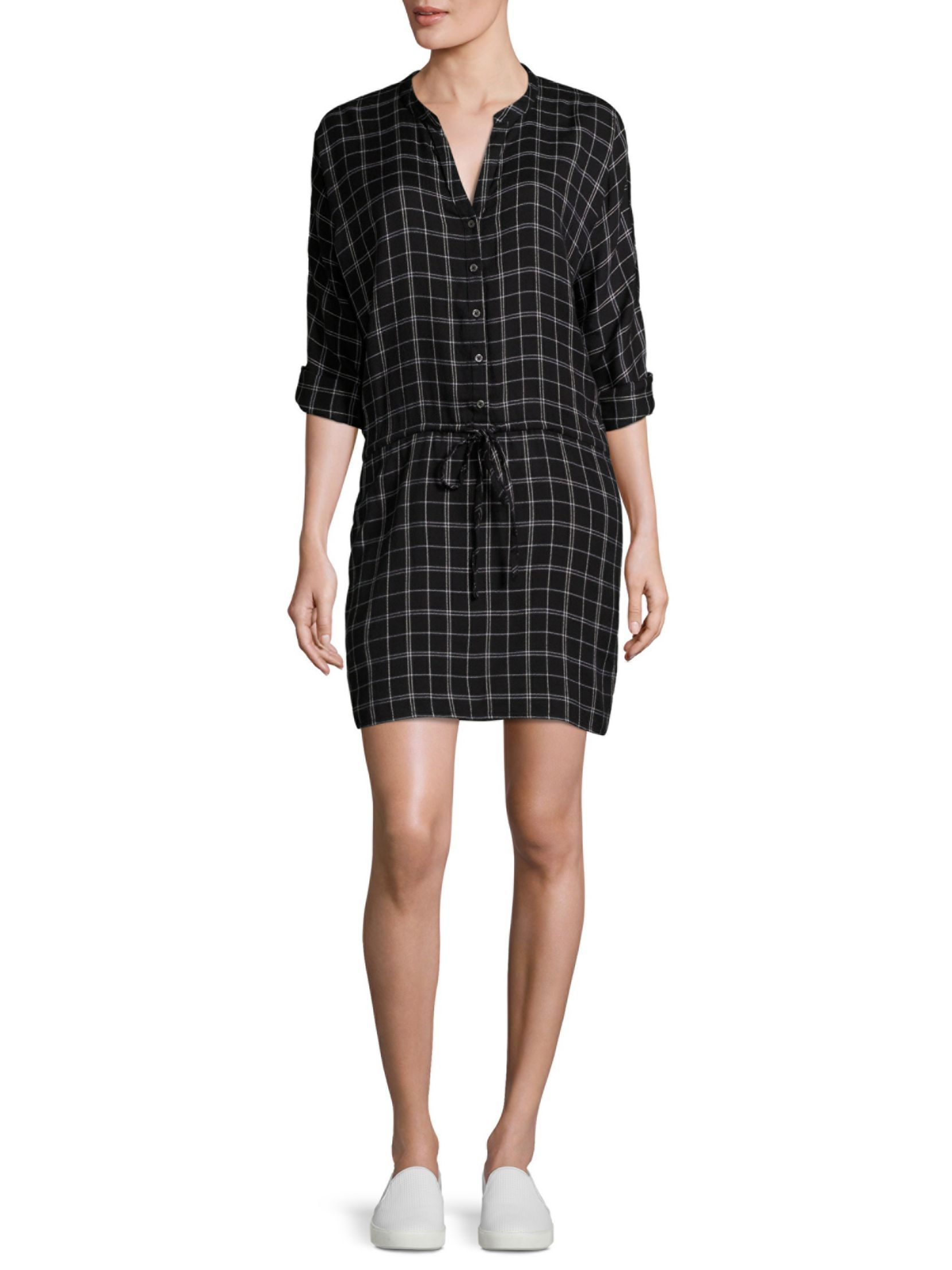 Joie Soft Iselyn Plaid Shirtdress