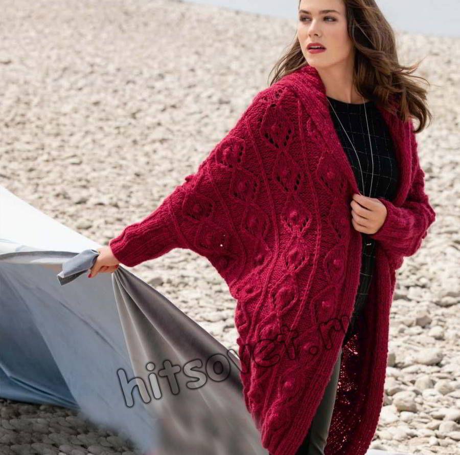 Вязаное пальто оверсайз, фото. | Свитера для женщин ...