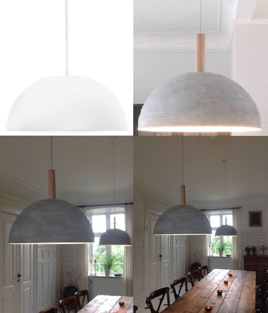 diy beton lampe lamperne er nyindk bte philips og customized med betonpasta creativ hobby. Black Bedroom Furniture Sets. Home Design Ideas