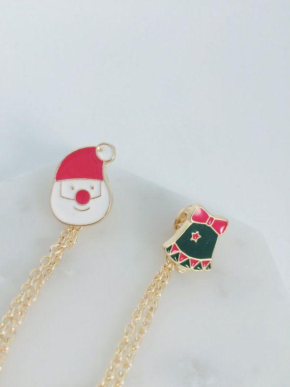 Christmas special edition Collar pins Collar by KizunaAccessory
