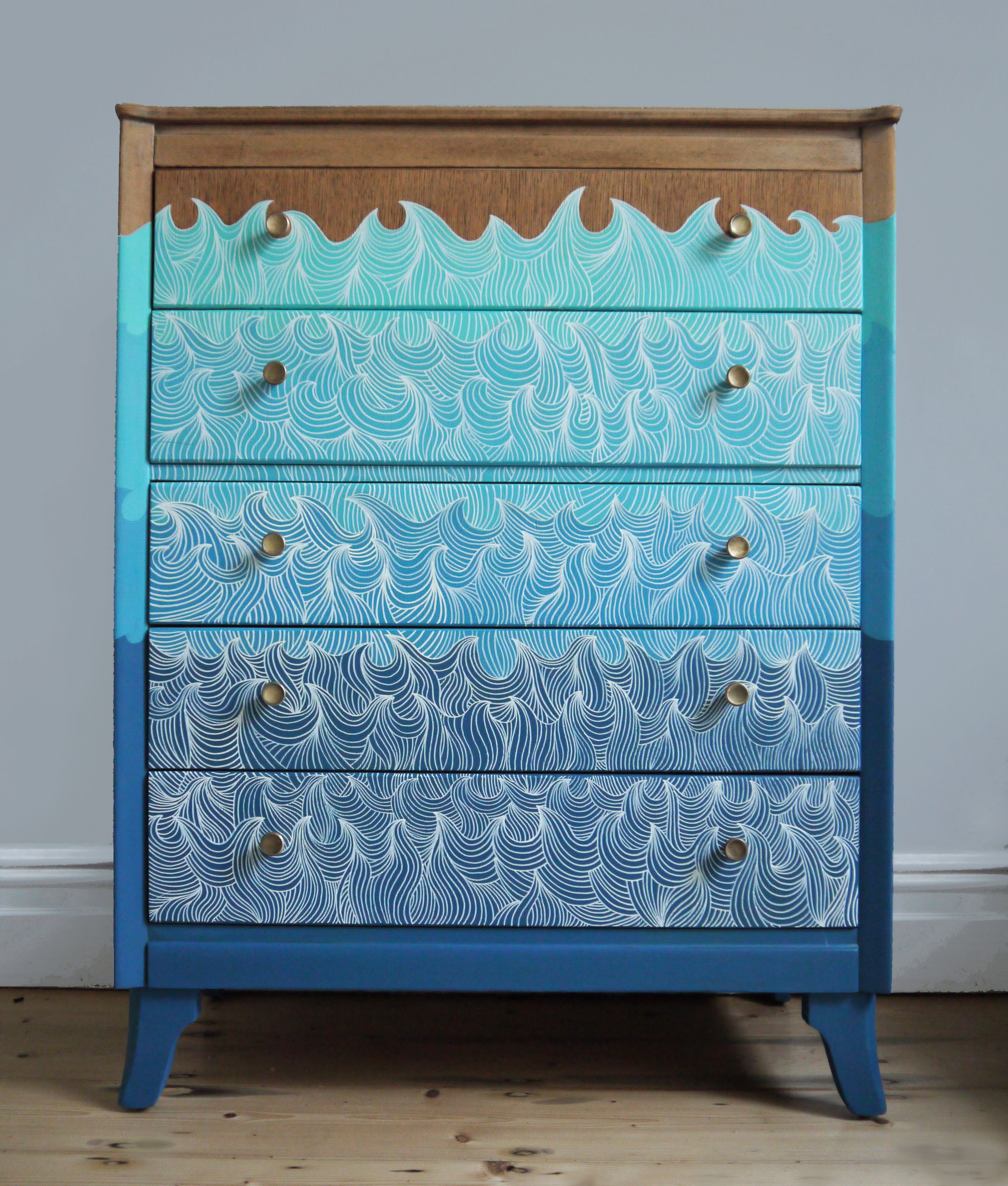 Handsome Vintage Malin Chest Of Drawers Vintage Chest Of Drawers Blue Chest Of Drawers Blue Chests