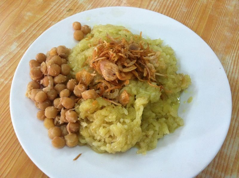 Rice and beans, delicious and simple breakfast in Myanmar