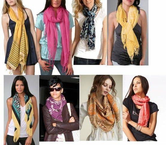 How to tie a scarf: десятки вариантов согреться
