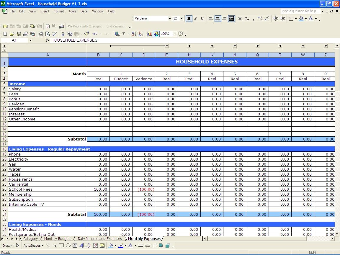 budget form excel - pacq.co