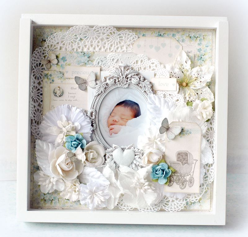 Baby 6 inch shadow box by Maiko, featuring the Sweet Baby collection