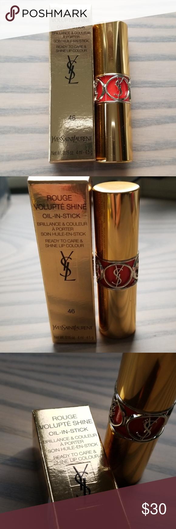 YSL Rouge Volupté OilinStick Lipstick 46 Brand new in