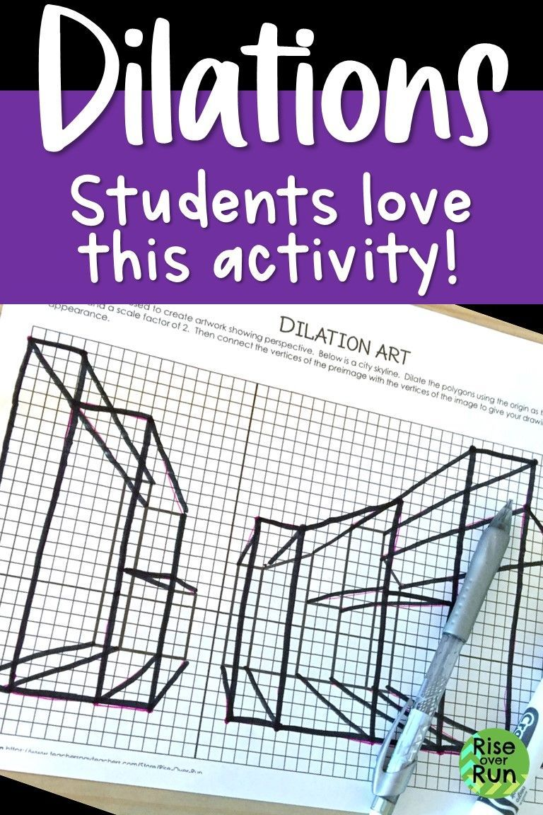 Dilation Activity Creating 3D Perspective Art