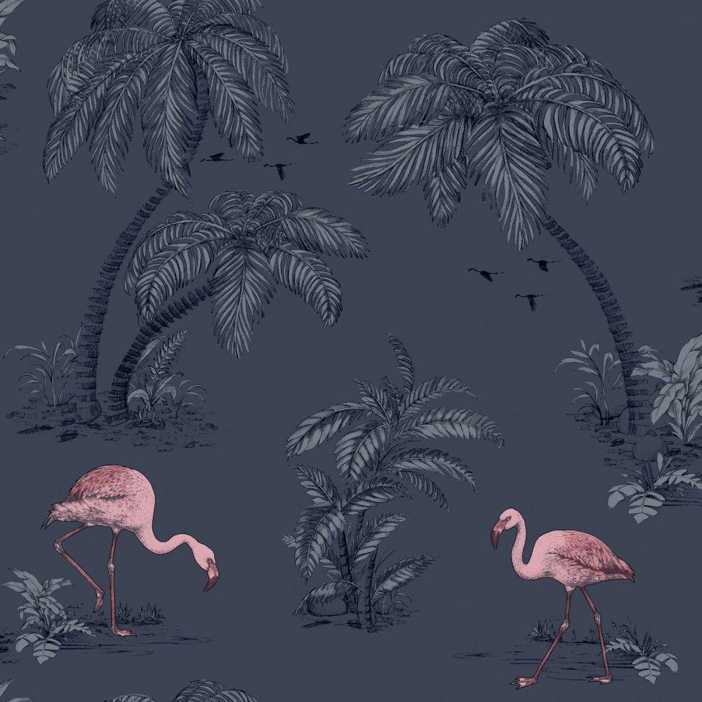 Imaginarium 12382 Flamingo Wallpaper Feature Wallpaper Tree Wallpaper