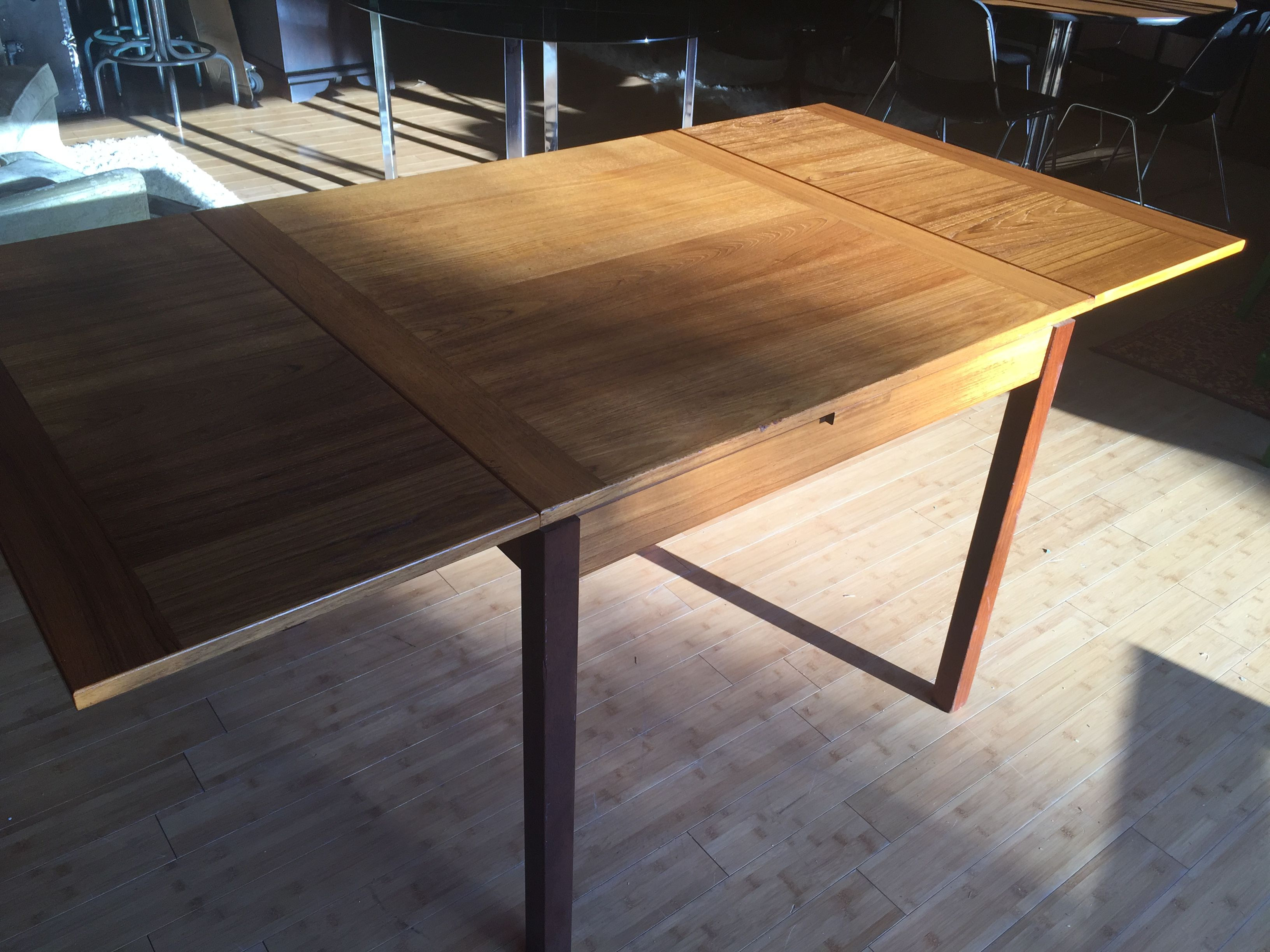 Teak extension dining table in excellent condition very clean and - Ansager Mobler Teak Dining Table Made In Denmark For Sale By Moore Treasures