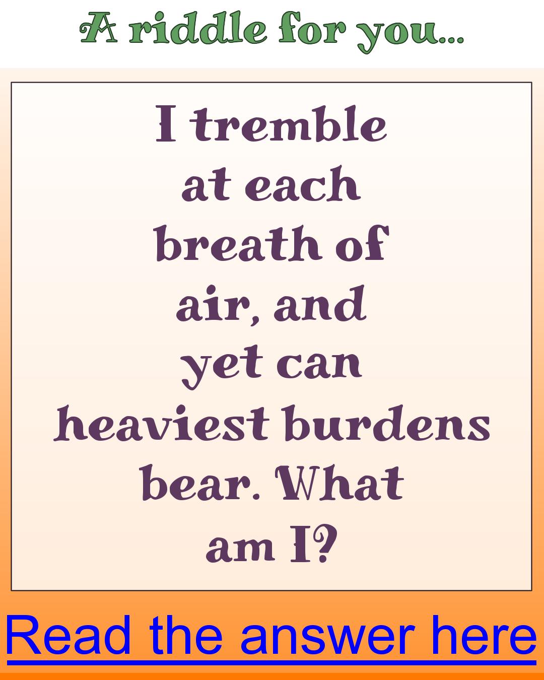 Trembling in air What am I? (met afbeeldingen)