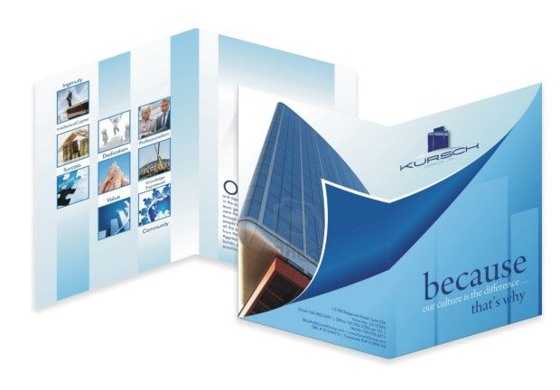 Bi Fold  Panel  Real Estate Brochure  Brochure Design