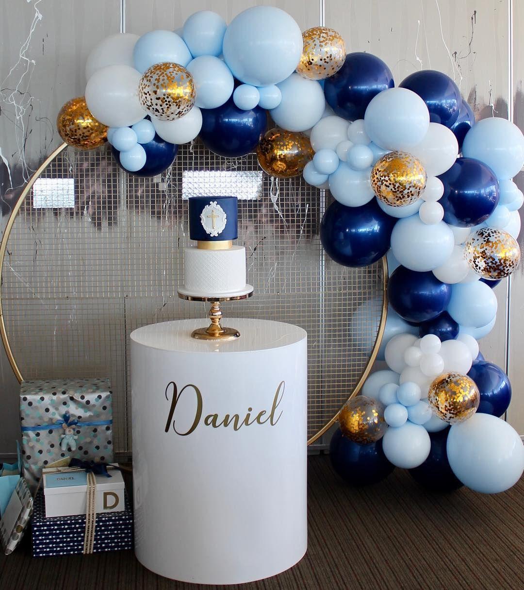 Daniels Christening Wall Plinth @arabellaevents__ Balloons