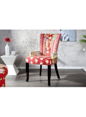 PRINTEMPS - design patchwork chair floral dining chair ...