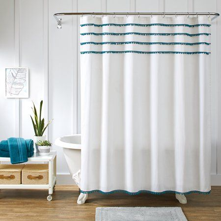 Better Homes And Gardens Pom Shower Curtain